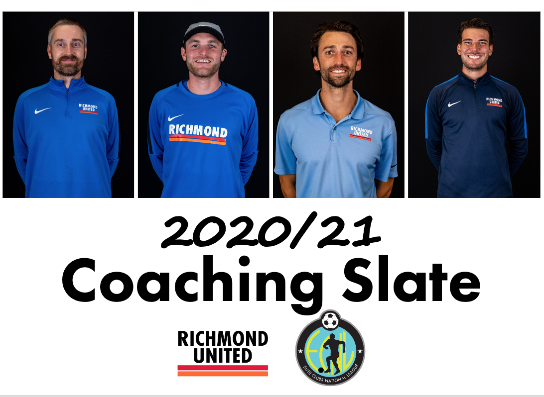 Richmond United Boys Announces 2020/21 Coaching Slate